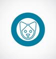 puppy icon bold blue circle border vector image
