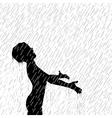 Rain boy vector image vector image