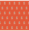 Seamless Halloween Skull Pattern with Bones over vector image vector image