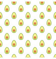 seamless pattern avocado ripe halves avocado vector image
