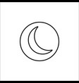 sleep mode line icon mobile sign and new moon vector image