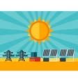 solar energy power plant in flat style vector image vector image