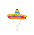 sombrero mexican hat isolated on white background vector image vector image