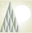stylized christmas tree simple card vector image