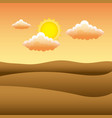 sunset the dawn sun in the mountains desert vector image