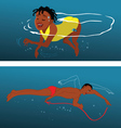 swimming techniques vector image vector image