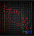 tech abstract scene vector image vector image
