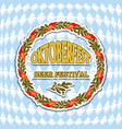 Vintage styled emblem for oktoberfest festival