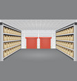 warehouse interior vector image vector image
