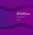 wavy geometric background ultra violet trendy vector image vector image