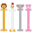 Cartoon animal wall meter vector image