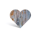 Texture of wooden pattern in heart shape vector image
