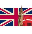 UK with Big Ben Flag vector image