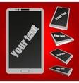 White smartphone vector image