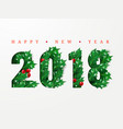 2018 happy new year numbers cut from paper vector image vector image