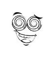 april fools day cartoon face vector image