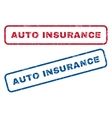 Auto Insurance Rubber Stamps vector image vector image