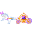 beautiful fairytale carriage vector image vector image