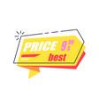 best price 999 arrow sticker discounts pointer vector image vector image