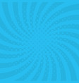 blue background with swirl pop art style vector image