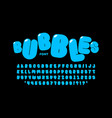 bubble style font design alphabet letters numbers vector image