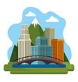canadian cityscape scene icon vector image vector image
