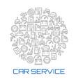 car service round poster of auto repair shop icon vector image