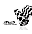checkered race flag isolated vector image vector image