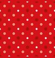 christmas and white polka dots seamless vector image
