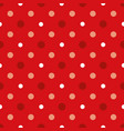 christmass red and white polka dots seamless vector image