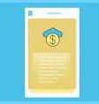 cloud dollar mobile vertical banner design design vector image vector image