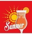 Coktail bar drink vector image