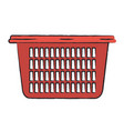 colored blurred silhouette of laundry basket vector image vector image