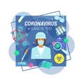 coronavirus medical tests and analyzes vector image vector image