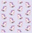 cute cartoon unicorn sitting on stone like vector image vector image