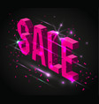 dark banner for black friday sale modern neon vector image vector image