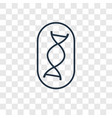 dna structure concept linear icon isolated on vector image