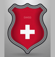 flag of switzerland badge and icon vector image