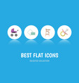 flat icon baby set of child chair napkin vector image vector image