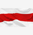 fragment a waving belarusian historical flag vector image