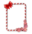 frame made candy cane vector image vector image