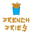 French fries3 vector image vector image
