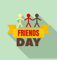 friends group day logo flat style vector image