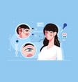 genetic engineering charming eyes vector image