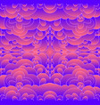 glowing psychedelic trippy abstract pattern vector image vector image