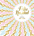 Gold Christmas and new year card design in Spanish vector image