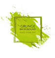 green hand paint artistic dry brush stroke grunge vector image vector image