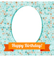 Greeting card or invitation with spots pattern vector image vector image