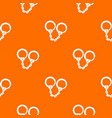handcuffs pattern seamless vector image vector image