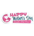 Happy Mothers Day Emblem vector image vector image